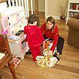 Christmas mommy and maya unwrap