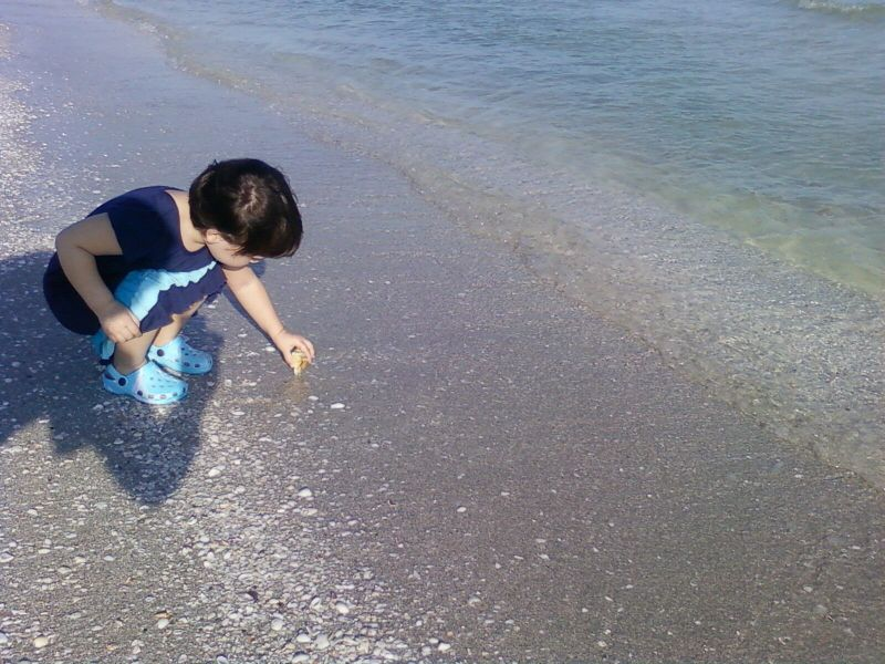 Maya discovers the sea