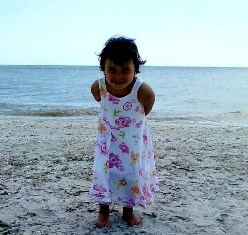 Cute maya at beach