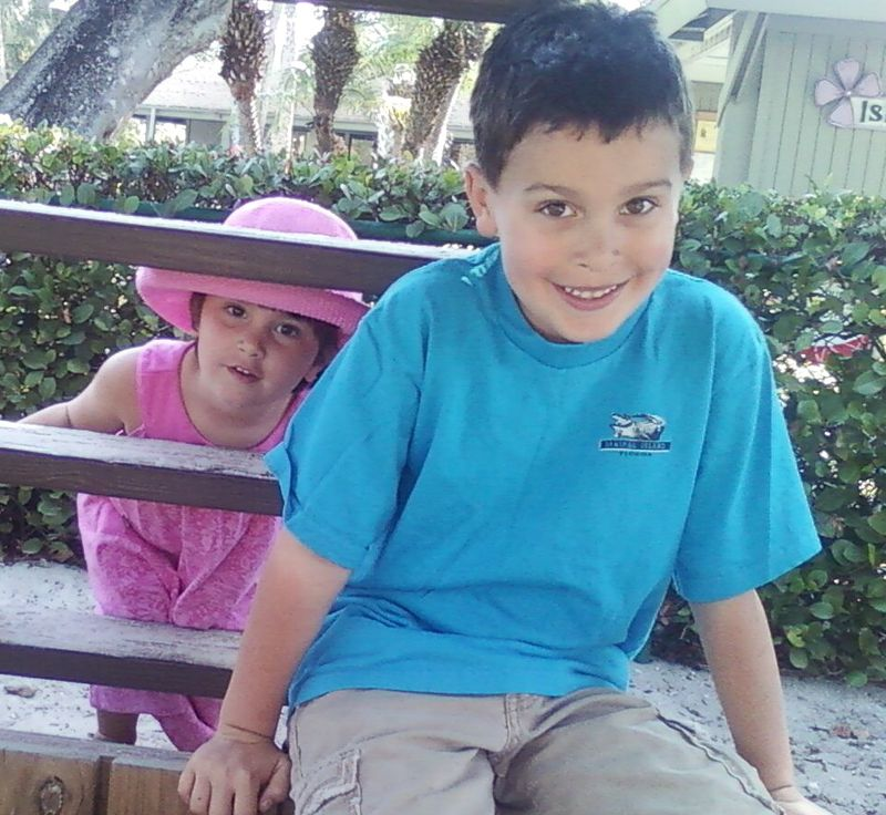 Cole and Maya in hat