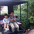 Kids on buggy