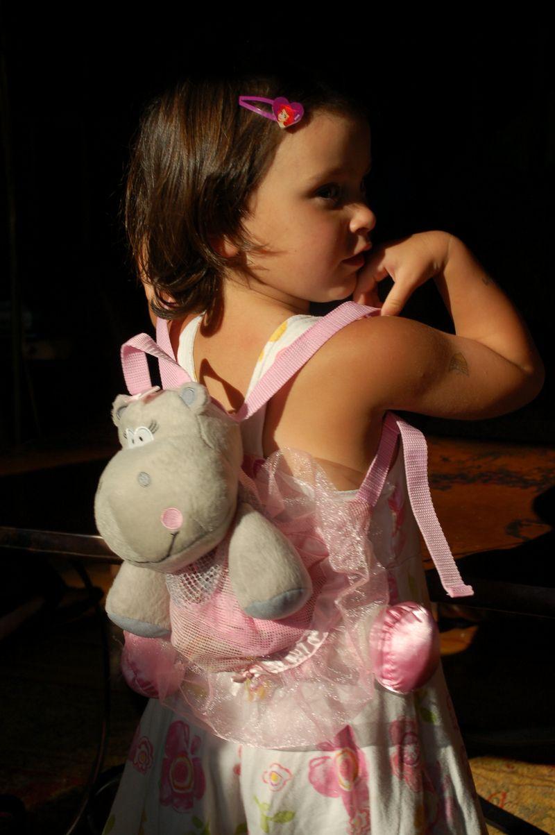 Hippo ballerina backpack