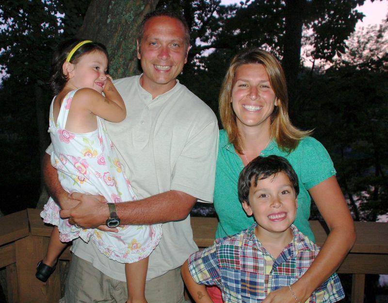 Family photo at smith mountain lake