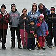 Boot hockey on ice