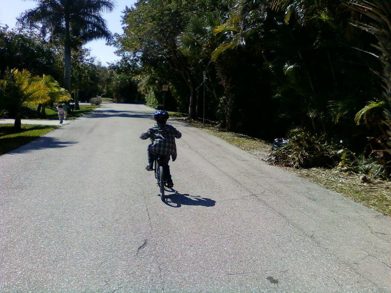 Cole biking