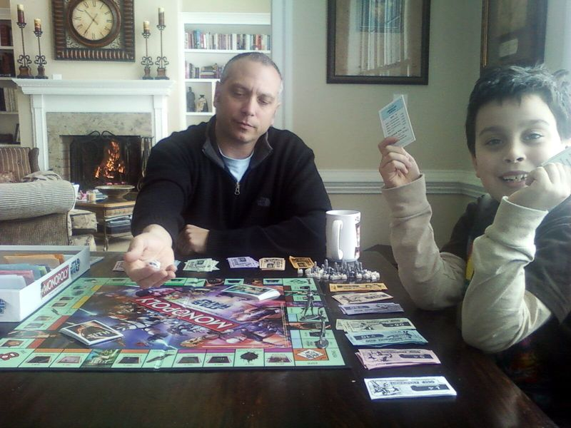 Monopoly cole and dad