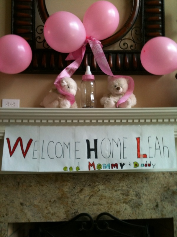 Welcome home pic
