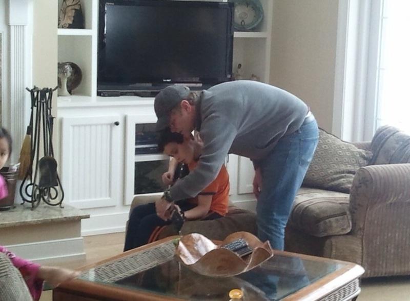 Cole's private guitar lesson