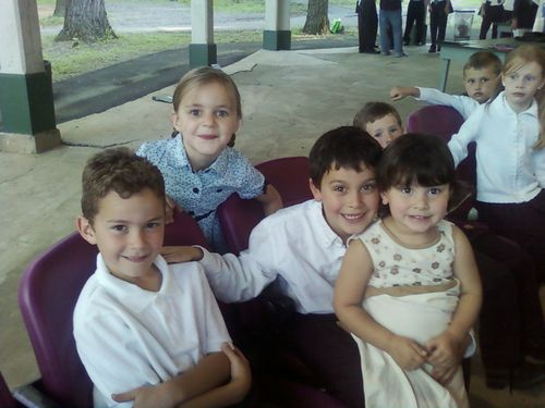 Noah, ava, cole, &maya at choir concert