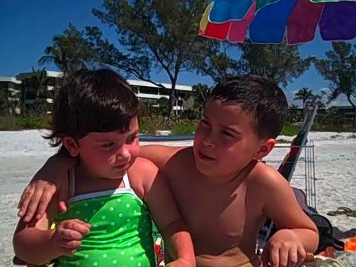Cole and Maya at beach