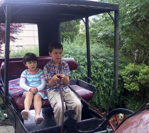 Kids on buggy