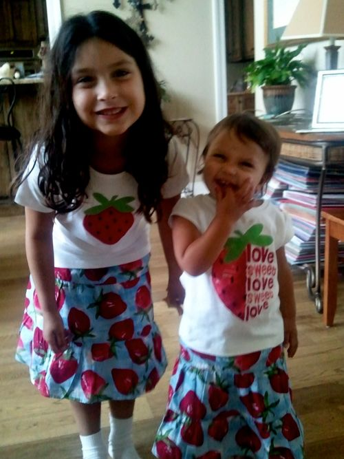 MAYA AND LEAH STRAWBERRY