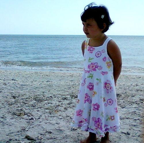 Maya at beach (dress)