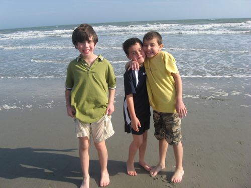 Cole and His cousins, Jake and Zach